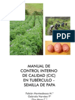 Manual de Control Interno de Calidad (CIC) en tubérculo-semilla de papa