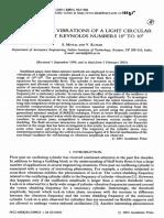 Flow Induced Vibration of a Light Circular Cylinder