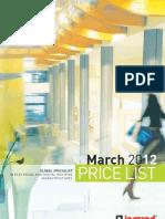 Legrand Pricelist 01.03.2012