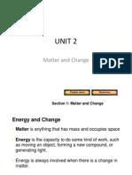 Unit 2 Matter and Change