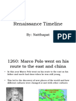 Year 8 Renaissance Timeline of Events
