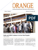 The Orange Newsletter Volume 1 Number 5. 15 November 2012