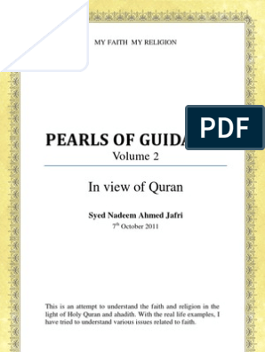 Pearls Of Guidance: In view of Quran