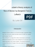 Andrew Goodwin theory analysis of 'Box of Stones'