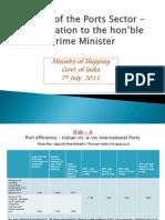 Presentation to the Hon'Ble Prime Minister -
