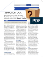 Employers now enjoy high degree of flexibility when choosing redundancy selection criteria
