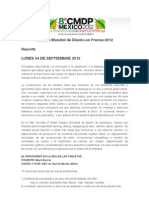 Reporte sobre la 8a Cumbre Mundial de Diseño en Prensa 2012