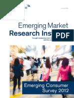 Emerging Consumer Survey 2012