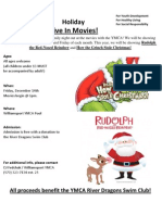 Dive-In Movie Flyer - Christmas