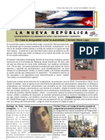 LNR 59 (Revista La Nueva Republica) Cuba CID 21 Noviembre 2012