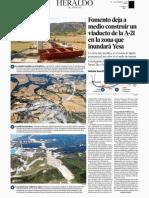 Fomento deja a medio construir un viaducto de la A-21 en la zona que inundará Yesa