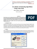 A Comparative Study of clustering algorithms Using weka tools