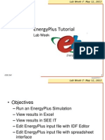 Energyplus Tutorial Week7 2011Lab
