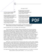 Letter from Law Firm Regarding Denial of Permit for Christmas Nativity Display in Arlington Heights, IL