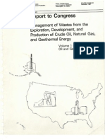 Management of Wastes from the Exploration, Development, and Production of Crude Oil, Natural GAs, and Geothermal Energy.