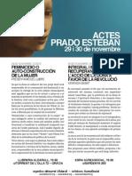 ACTOS CON PRADO ESTEBAN, EN BARCELONA. NOVIEMBRE 2012