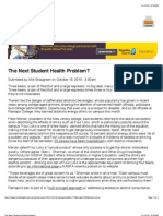 The Next Student Health Problem