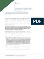 Economic Snapshot for November 2012