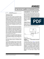 Using Single Supply Operational Amplifiers in Embedded Systems