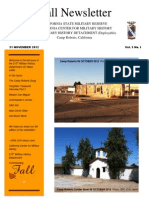 213th Newsletter Fall 2012