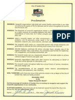 City of Garden City Idaho Non Profit Day Proclamation