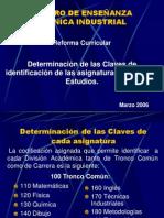 Determinación de  las Claves de Materias