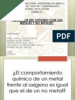 REACCIÓN DEL OXÍGENO CON METALES Y NO METALES.