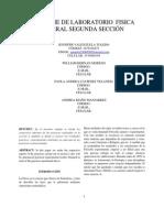Informe Segunda Seccion Laboratorio Fisica