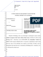Plaintiffs Discovery Status Report and Response to Order to Show Cause