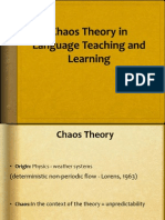 Chaos Theory in language learning