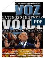 La Voz, Nov 15 - Dec 15, 2012 edition