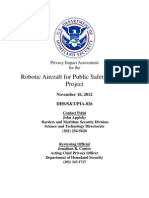DHS Robotic Aircraft for Public Safety (RAPS) Privacy Impact Assessment 11-16-12