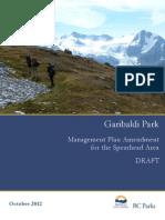Garibaldi Park Draft Management Plan Amendment