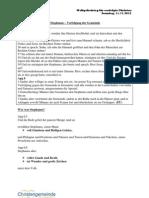 2012-11-11 Predigt WR - Verfolgt Aber Nicht Verlassen - Apg 7