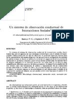 Un sistema de observación conductual