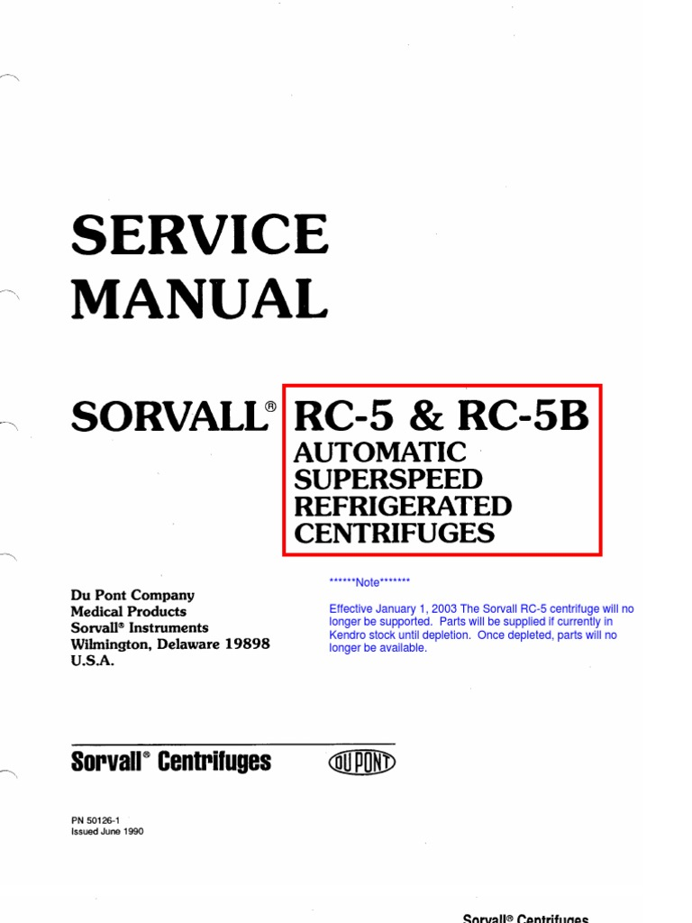 rc5 5b automatic superspeed refrigerated centrifuges relay rh scribd com