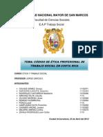 Codigo de Etica Profesional de Costa Rica