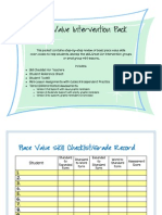 Place Value Intervention Pack-Preview