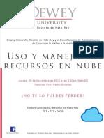 Flyer Nube(Charla Hato Rey)