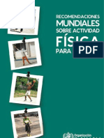Recomendaciones mundiales sobre actividad física para la salud
