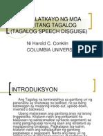 Pagbabalatkayo Ng Mga Pananalitang Tagalog (Tagalog Speech