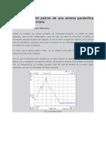 Optimización del patrón de una antena parabólica de óptica Gregoriana