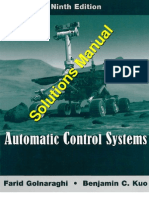 Automatic Control Systems 9th Solutions Manual