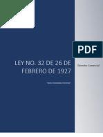 Ley 32 de 26 de Febrero de 1927 - Sobre Sociedades Anonimas