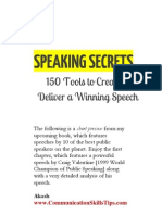 Public Speaking Secrets of Toastmasters World Champion