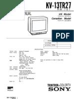 Sony KV 13TR27 Chasis.P 3B