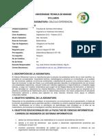 Syllabus de Calculo Diferencial.ing.Jose.cevallos -Sept.2012-Febre.2013