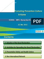Activities for Promoting Prevention Culture in Korea