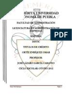 Títulos de crédito ensayo LISTO