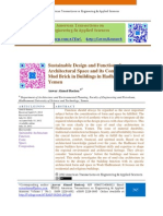 Sustainable Design and Function of Architectural Space and its Composition of Mud Brick in Buildings in Hadhramout Valley, Yemen